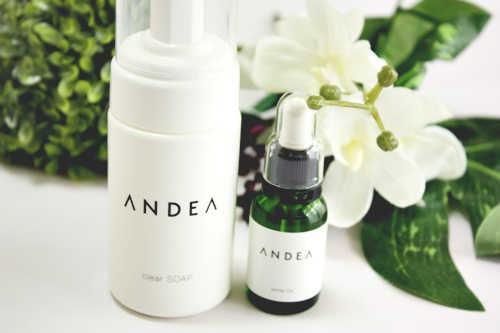 ANDEA clear SOAP & white OIL
